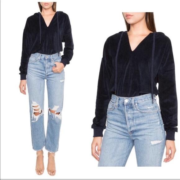 09795e1cd3b26e NWT Kendall + Kylie DASH navy hoodie bodysuit